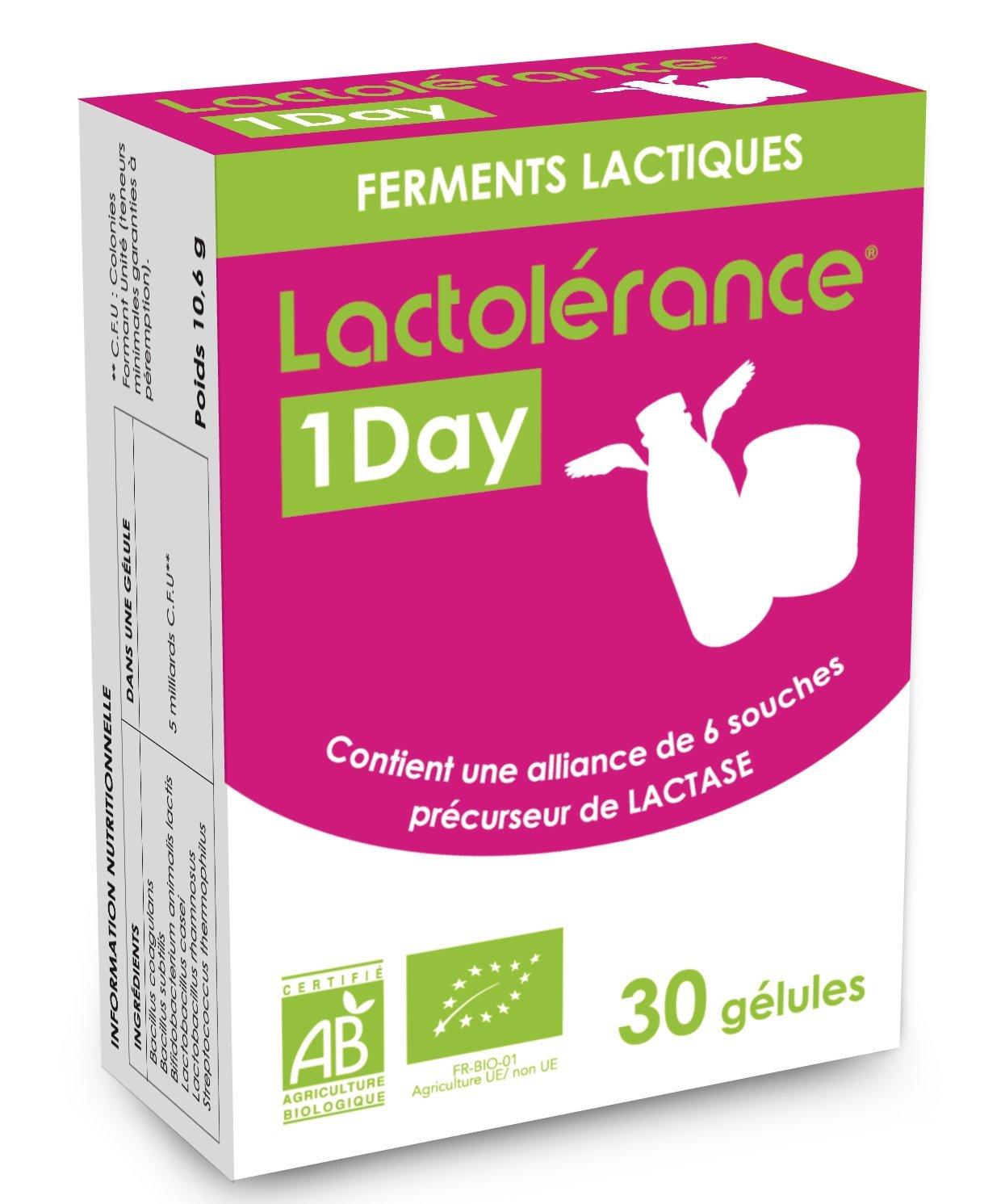 Lactolérance 1Day Bio - Precursor de la lactasa - 30 ...