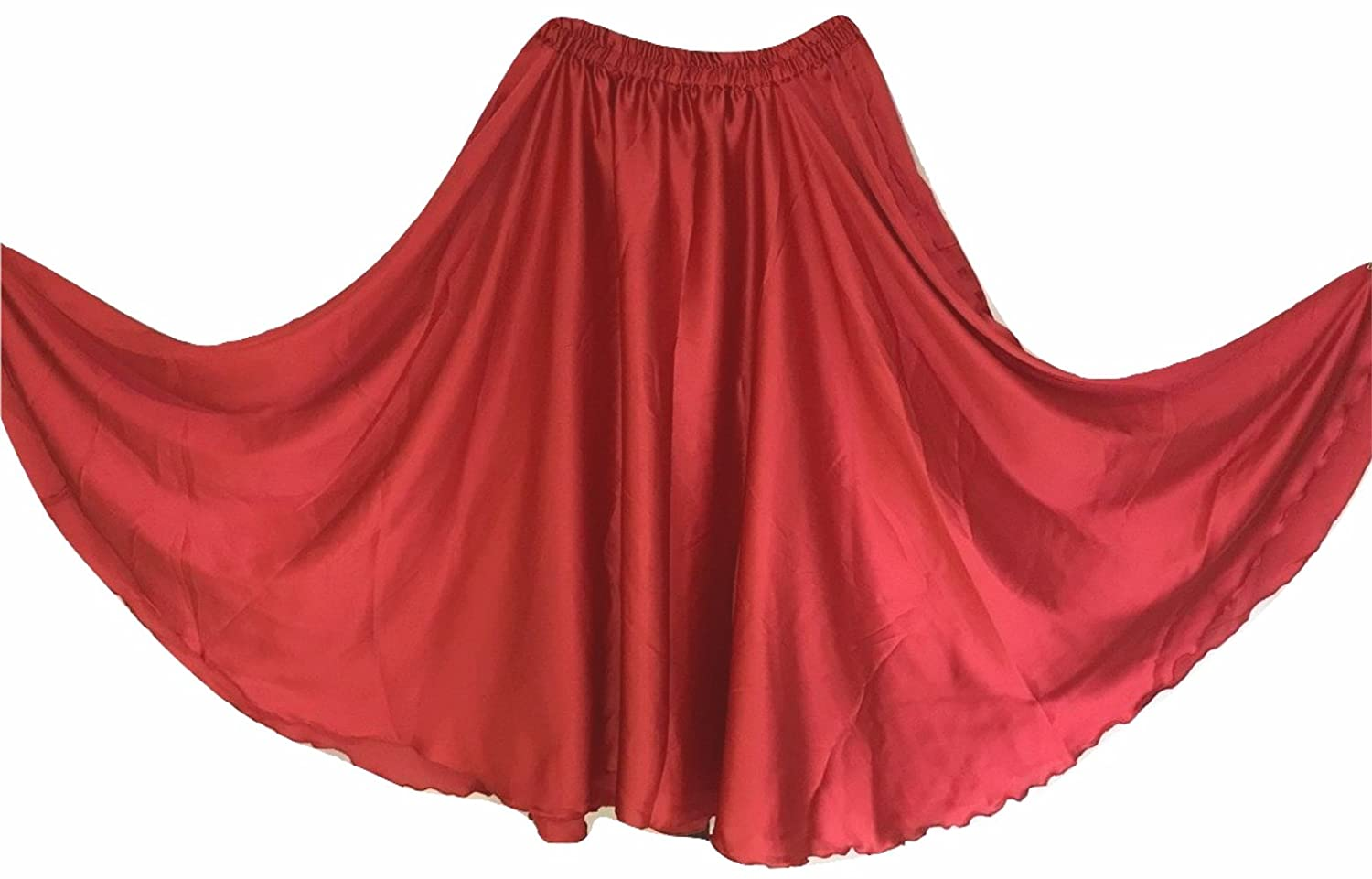 6M Satin Full Circle Belly Dance Costume Gypsy Tribal Skirts FCS0156