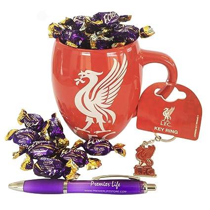 Liverpool FC Hamper con taza, llavero y Eclairs Chocolates ...