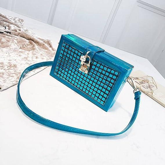 YTTY Box Pack Laser Square Bag Shoulder Diagonal Bag Lattice Bag ...