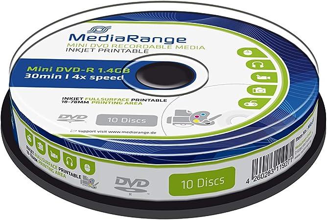 Mediarange Mini Dvd R 1 4gb 30min 4x Speed Inkjet Computer Zubehör