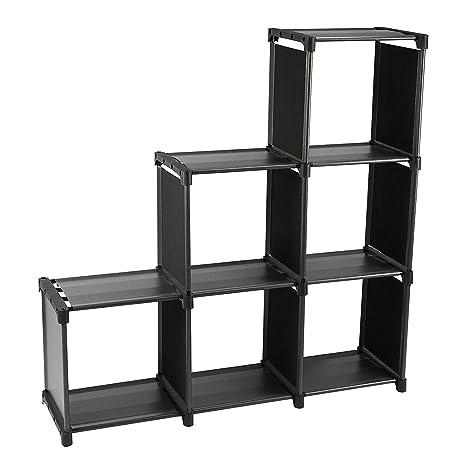 Smart-Home 3 Tiers 6 Cubes Storage Cabinet Closet Bookcase Shelf (Black)  sc 1 st  Amazon.com & Amazon.com : Smart-Home 3 Tiers 6 Cubes Storage Cabinet Closet ...