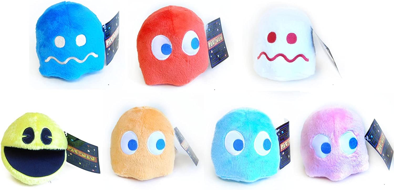 6 Pacman Plush Stuffed Toy Blue Ghost Pacman Toys Pacman Decor Soft Pacman Stuffed Toys Cute Suitable for Birthday Gifts for Boys And Girls Easter Gifts Blue