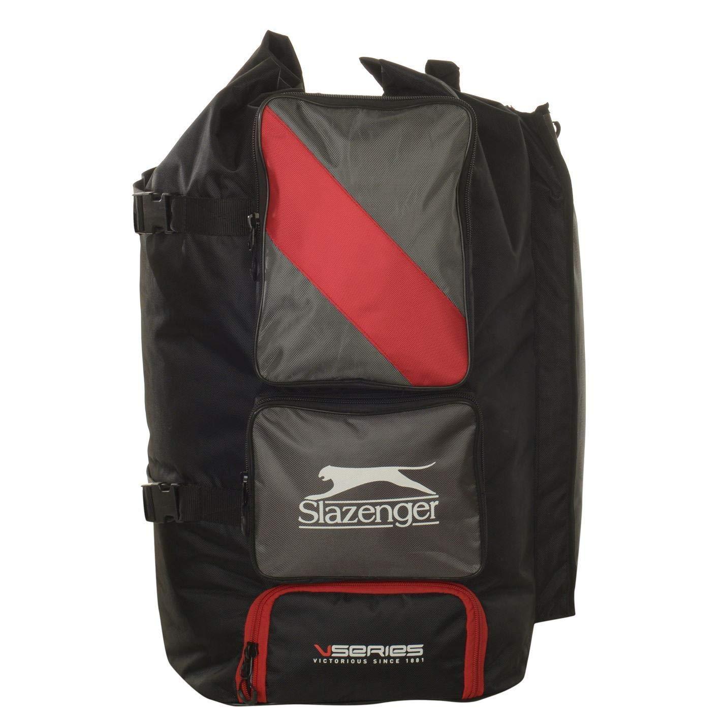 Slazenger V Series Duffle Bag Black//Red Holdall Carrycase Coffin