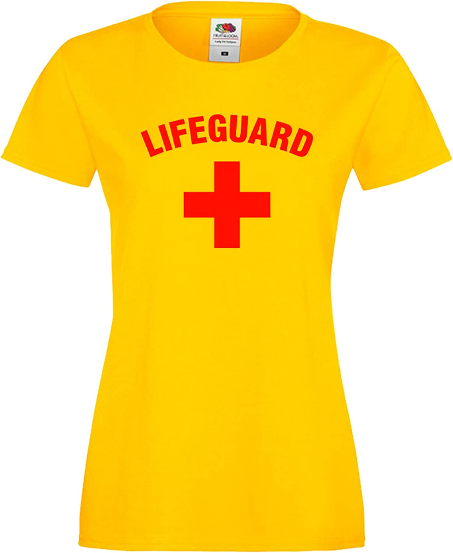 Lifeguard Fancy Dress Beach Woman Classic Baywatch® Crew Neck Ladies T-Shirt