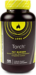 Torch by Top Trainer   Thermogenic Fat Burner Weight Loss Supplement Capsules – Appetite Suppressant, Energy & Metabolism Boosting  Made in USA Premium Ingredients   Gluten Free & Dairy Free