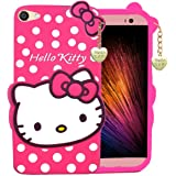 Trifty Vivo Y71 Girl's Back Cover Hello Kitty Silicon with Pendant - Pink