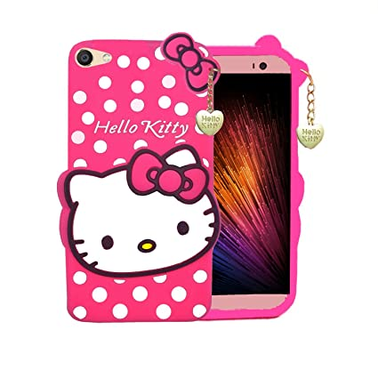 the best attitude 8d804 204cd Trifty Vivo Y71 Girl's Back Cover Hello Kitty Silicon with Pendant - Pink