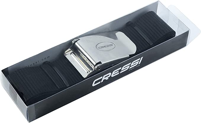 Cressi Weight Belt for Free Diving, Spear Fishing   Marseillaise - Nylon - Quick-Release Buckle Quality Since 1946