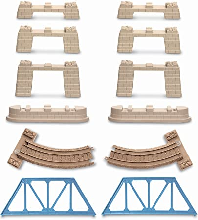 Tomy Trackmaster Thomas train track 8x pieces of straight blue track.