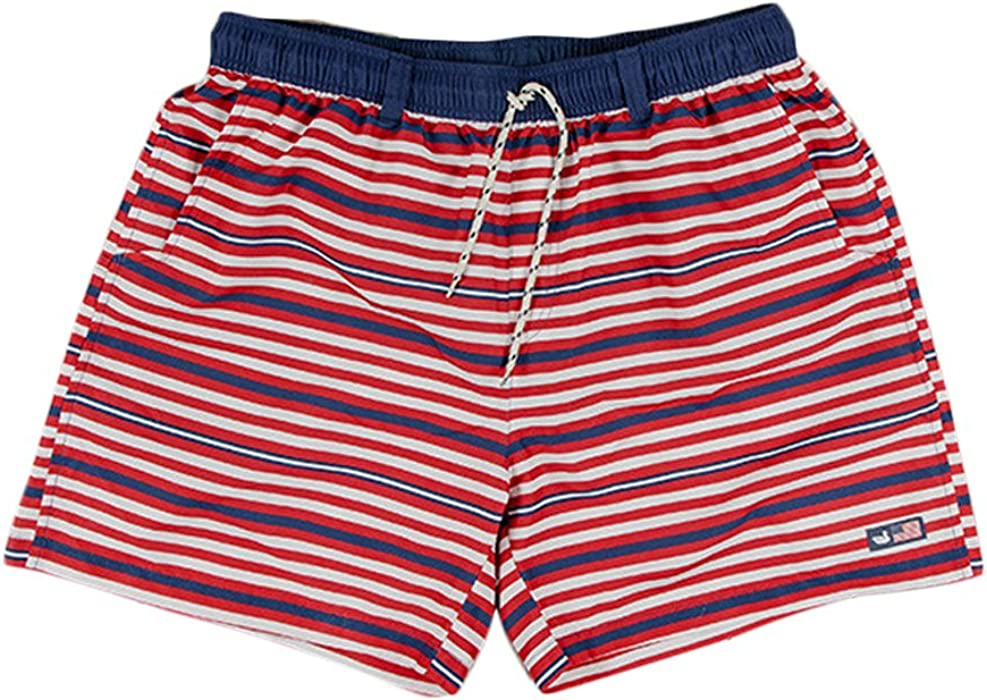07a05e41a0 Southern Marsh Dockside Swim Trunk Red/White/Blue S Mens Boardshorts ...