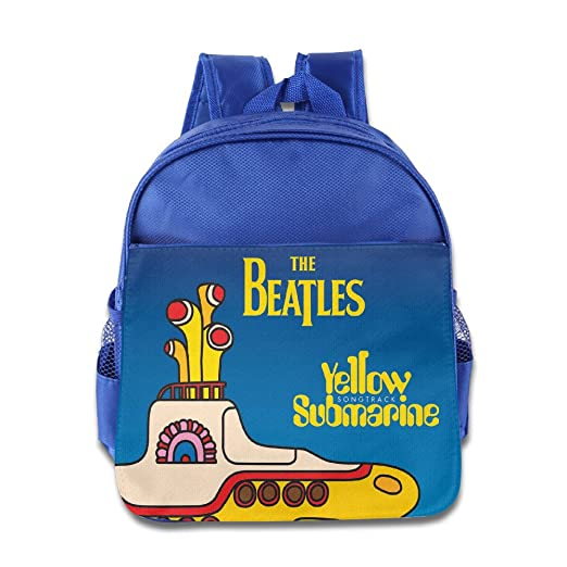 edacbb8d05 Amazon.com  Kids Yellow Submarine School Backpack Cartoon Children School  Bag RoyalBlue  Toys   Games