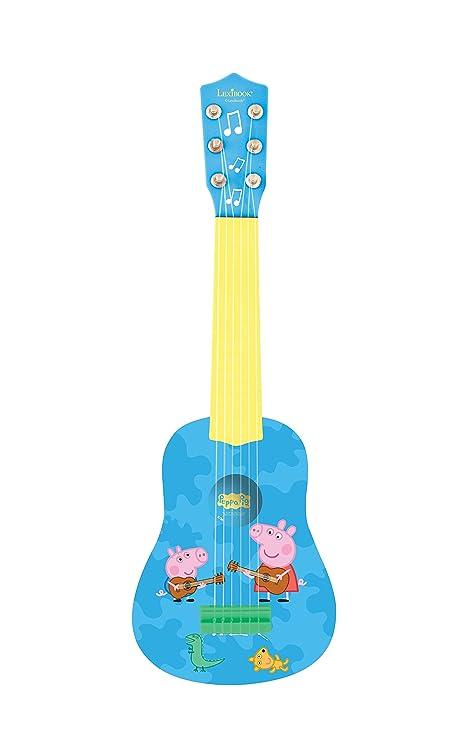 Peppa Pig K200PP Mi Primera Guitarra, 6 Cuerdas, Instrumento Juguete