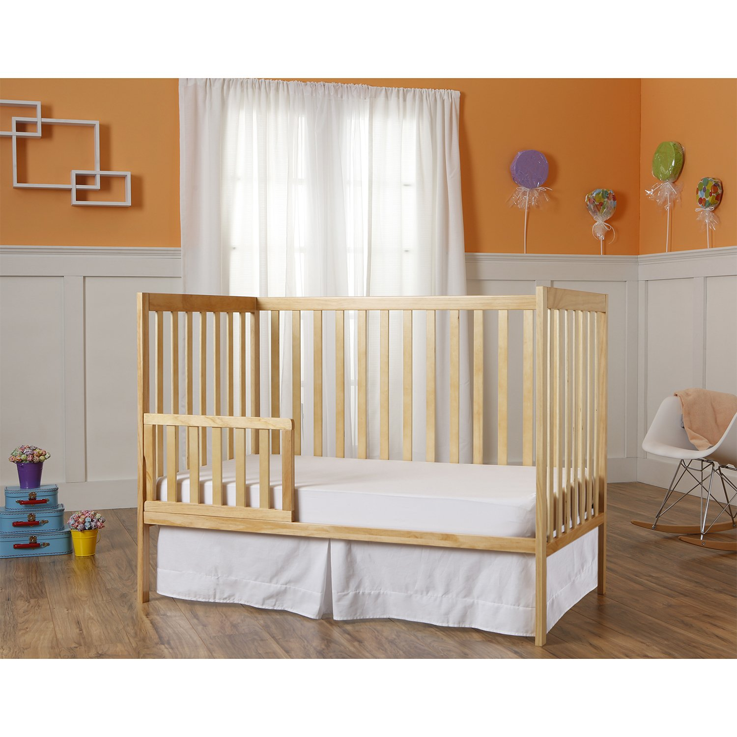 Dream On Me Synergy 5-in-1 Convertible, Crib, Natural by Dream On Me (Image #5)