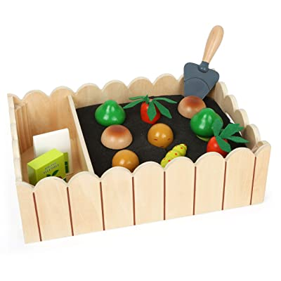 Small Foot Wooden Toys Vegetable Garden Complete Playset Designed for Children Ages 3+ Years: Toys & Games
