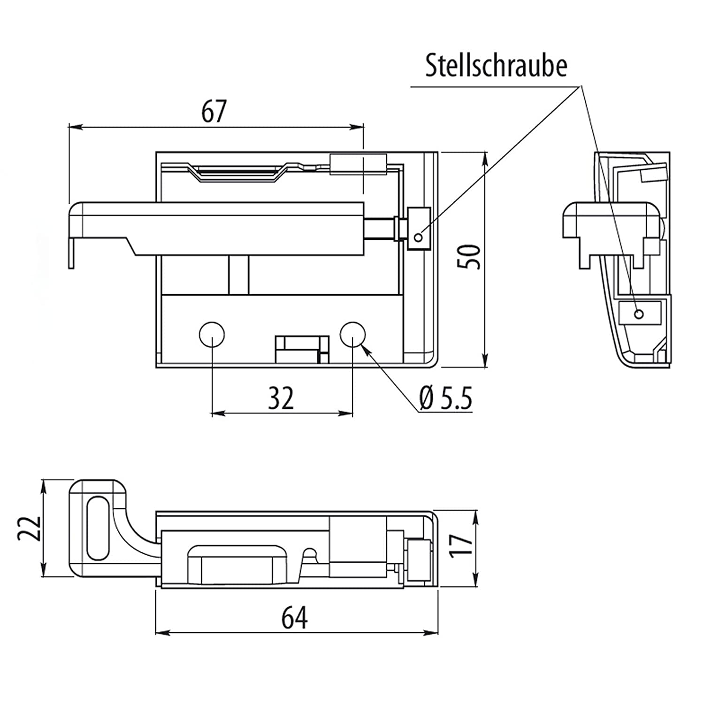 1 Paar SO-TECH® Schrankaufhänger STRONG verstellbar Aufhänger f ...