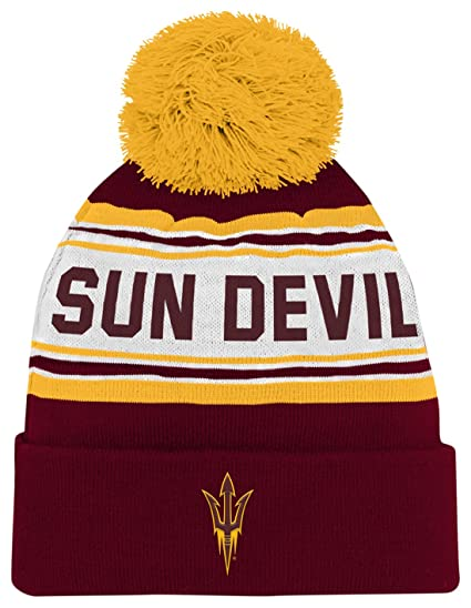 4a382429919 ... norway ncaa by outerstuff ncaa arizona state sun devils toddler  jacquard cuffed knit hat w pom