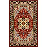 "Traditional Rug - Lyndhurst -Red/Black Red/Black/Traditional/5'3"" x 7'6""/Medium Rectangle"