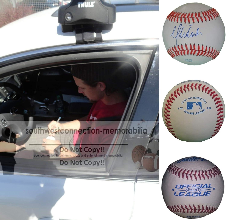 St Mike Leake Arizona Diamondbacks Autographed Signed Baseball with Exact Proof Photo of Michael Signing Cincinnati Reds Seattle Mariners San Francisco Giants COA Louis Cardinals