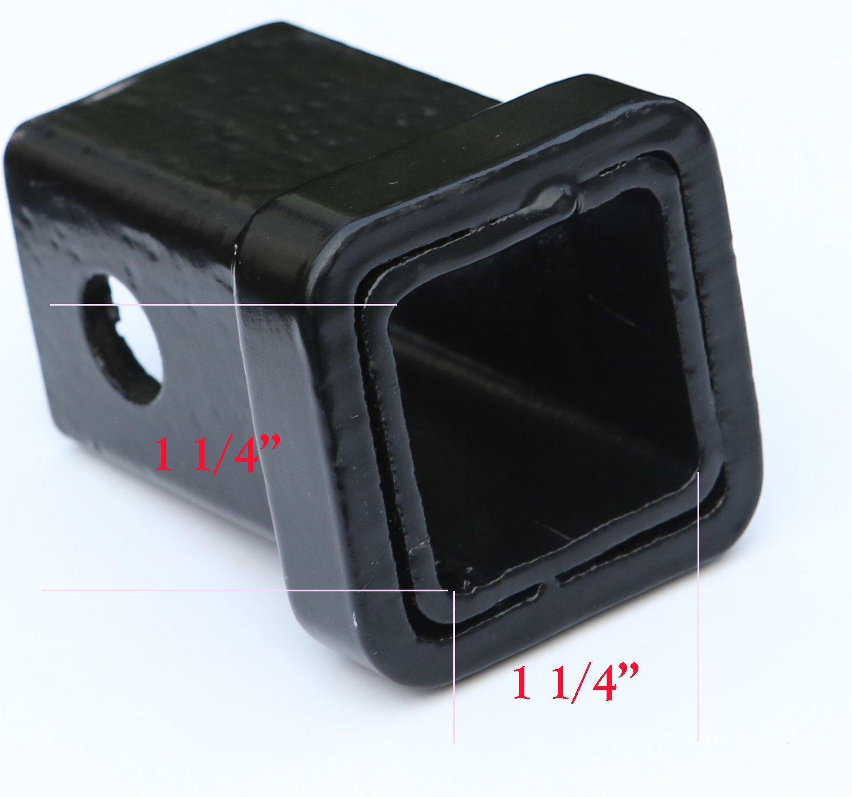 1.25 LFPartS 1.25 Trailer Hitch Cover tube Plug Insert Fits 1 1//4 Inch bparts HBL289514B Plain Black Receivers