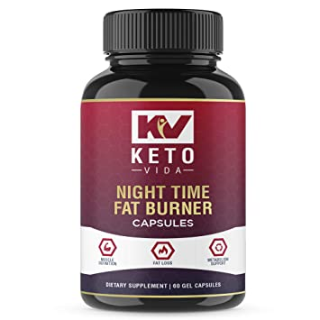 Night Time Weight Loss Fat Burner Supplement Pills and Appetite Suppressant for Men and Women -