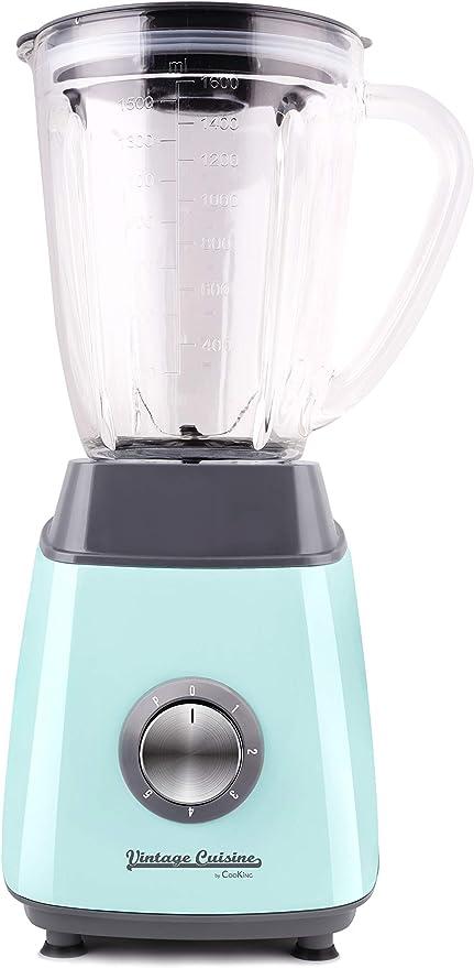Batidora de vaso con jarra de cristal 500W Vintage Cuisine by ...
