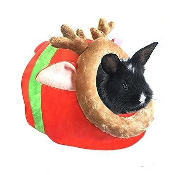 Bwogue Conejo Cobaya Hámster cama casa mascota para animales pequeños invierno caliente la jaula de ardilla Hedgehog Chinchilla para dormir: Amazon.es: ...