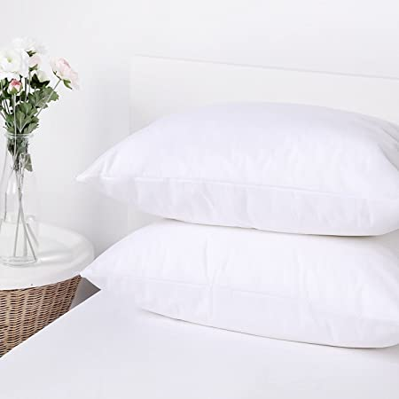 Pack of 2 Stain Resistant Pillow Protectors European 65 x 65cm