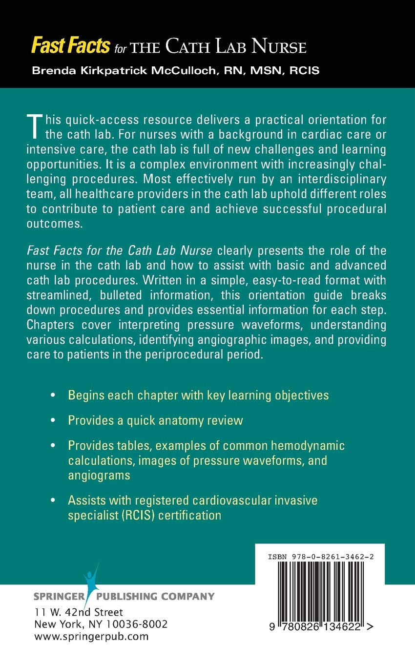 Buy Fast Facts For The Cath Lab Nurse Book Online At Low Prices In