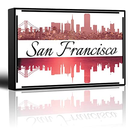 amazon com wall26 city skyline series san francisco colorful
