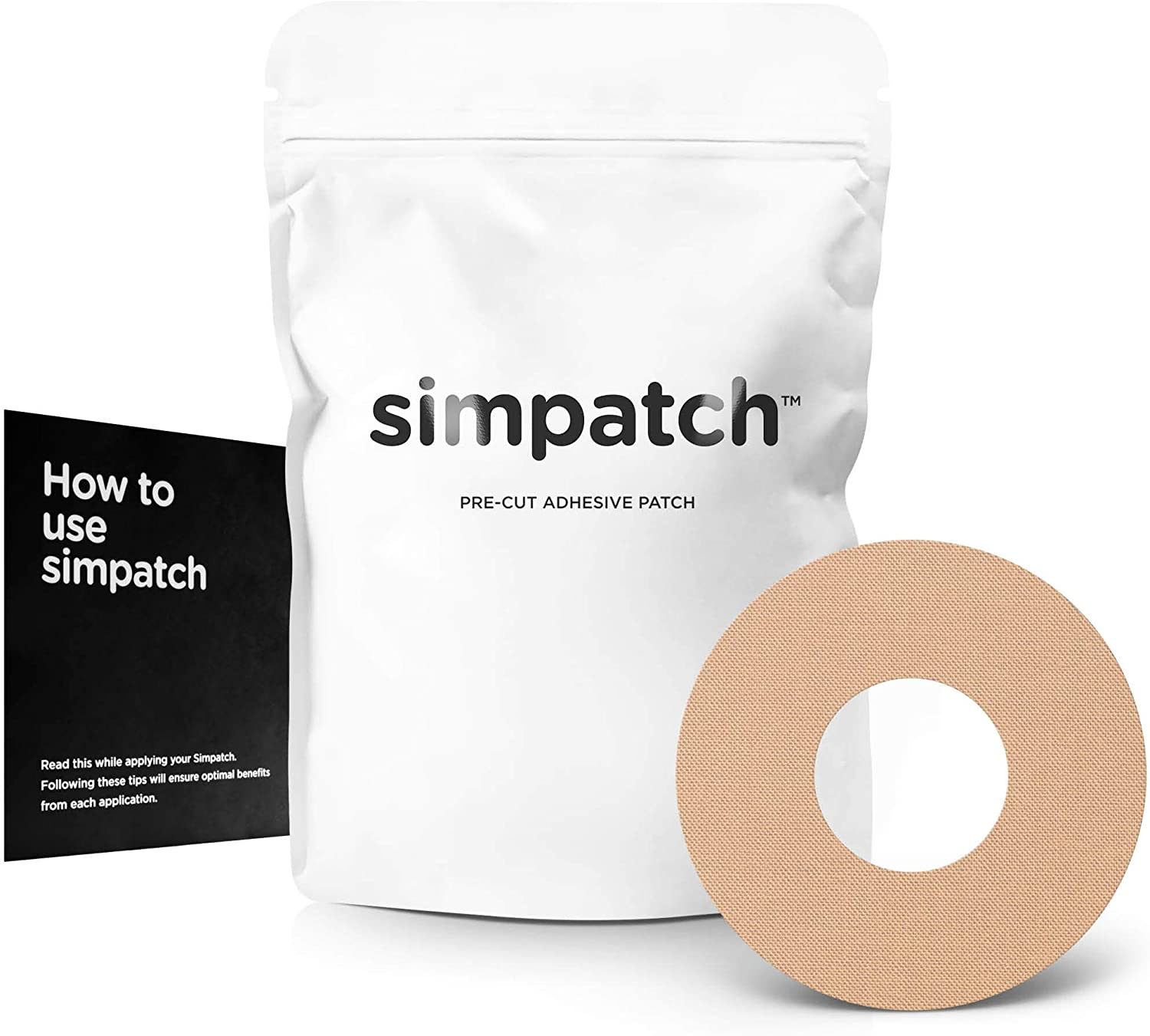 SIMPATCH Adhesive Patch (30-Pack) – Waterproof Adhesive, CGM Tape – Multiple Color Options