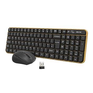 Jelly Comb Pack de Teclado y Ratón Inalámbrico para Ordenador de ...
