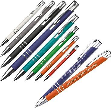orange Farbe 5 Kugelschreiber aus Metall