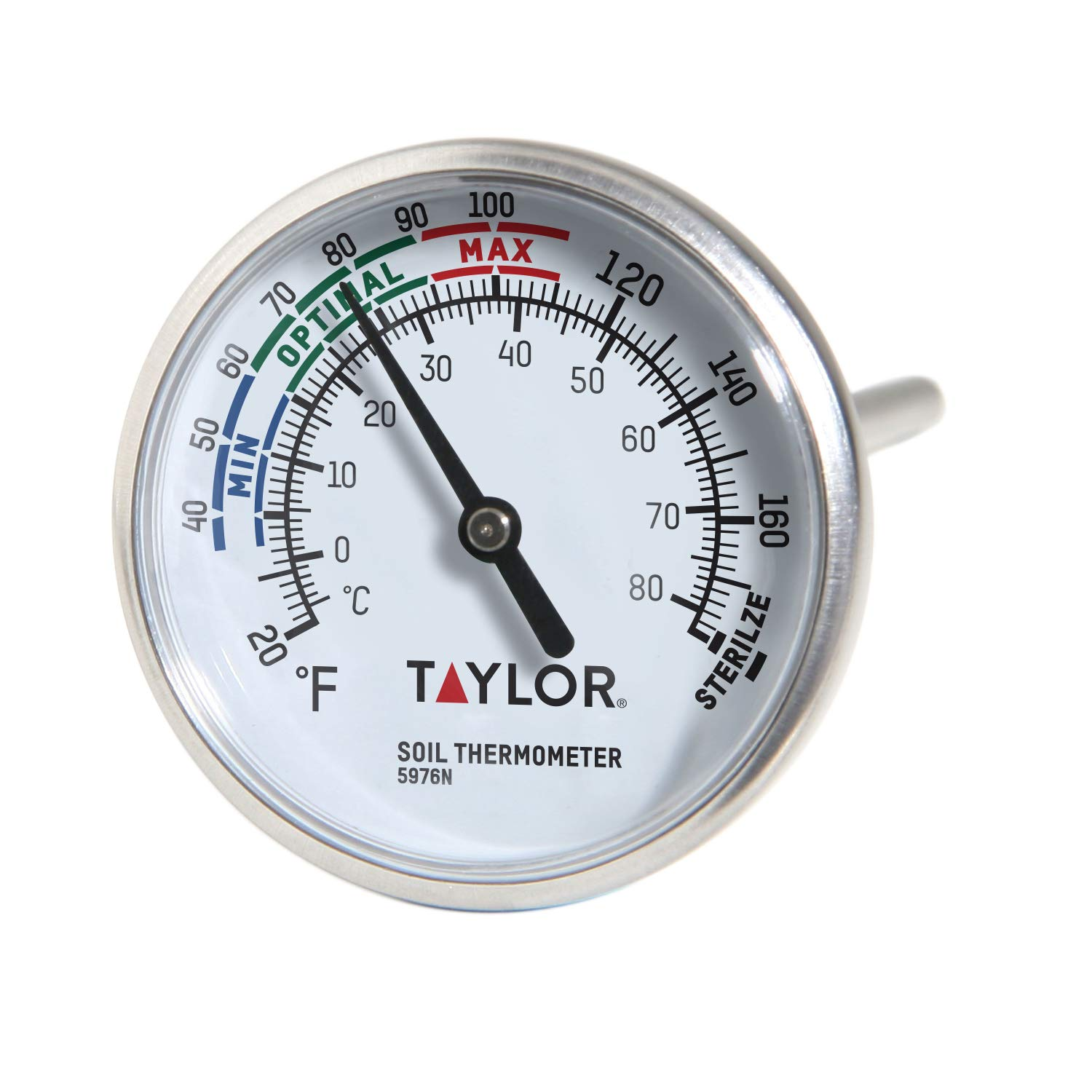 Taylor Precision Products - 5976N B0030JWAVA Soil Testing Thermometer, 4