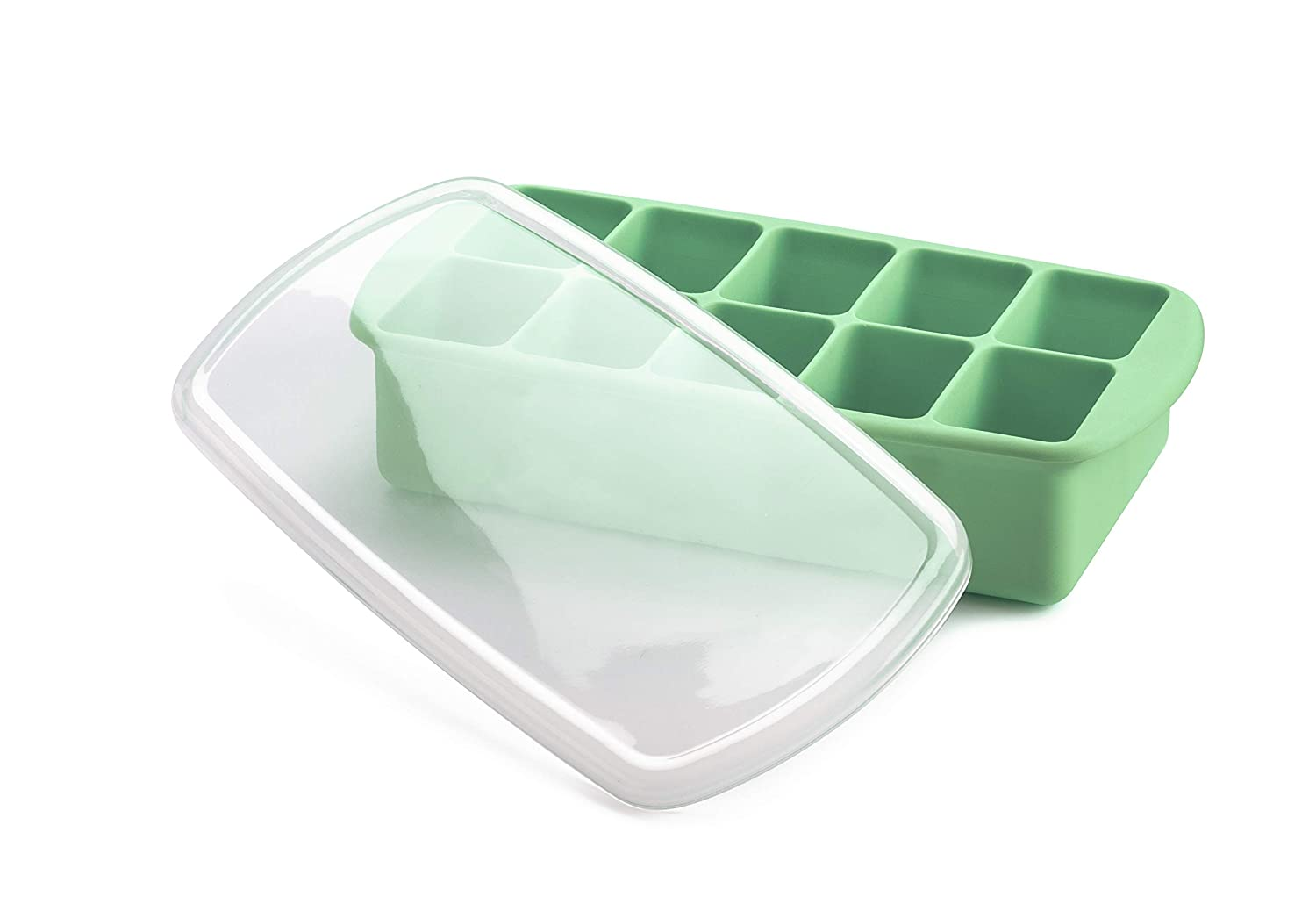 melii Silicone Baby Food Freezer Tray with Lid (Mint)
