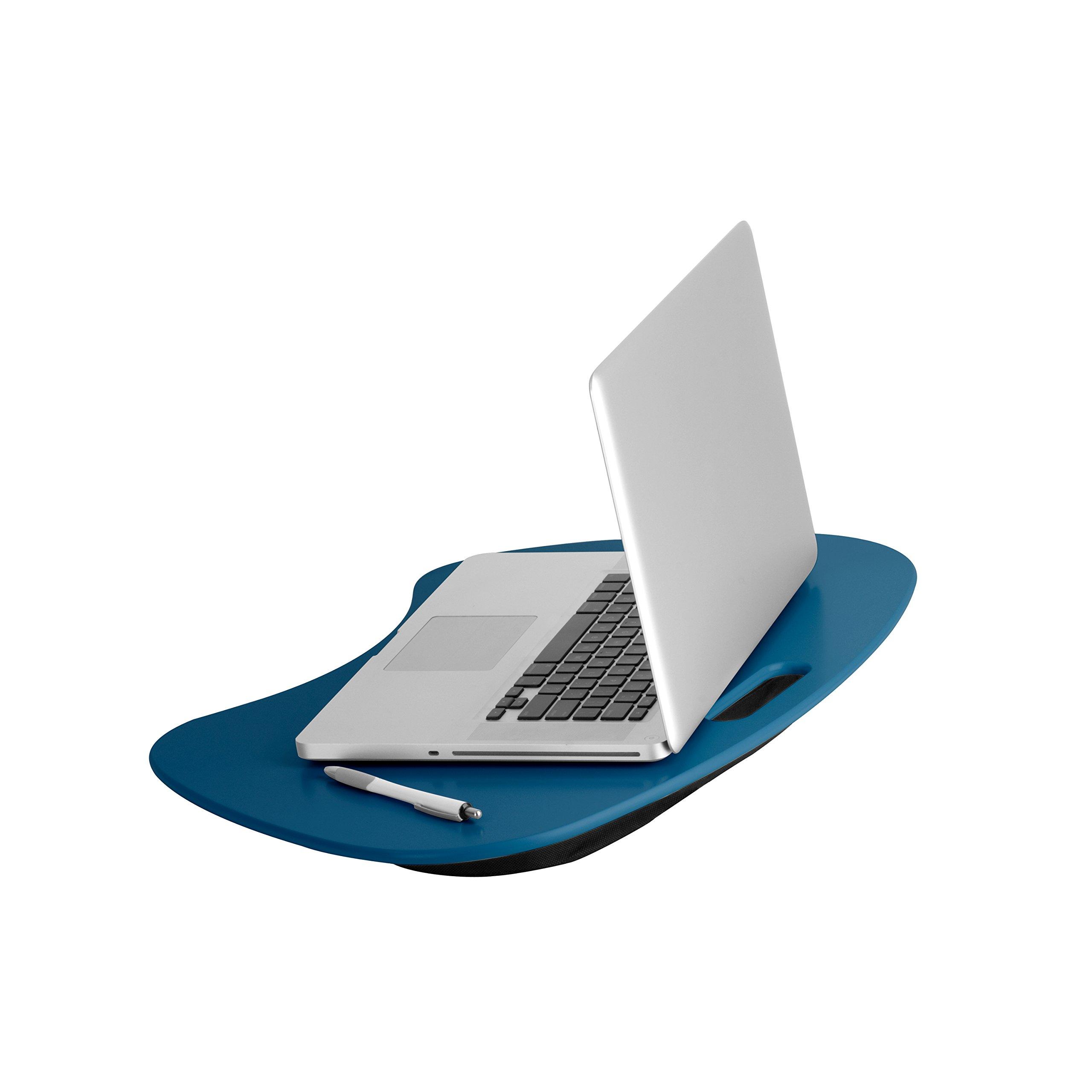Honey-Can-Do TBL-06321 Portable Laptop Lap Desk with Handle, Indigo Blue, 23 L x 16 W x 2.5 H