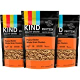 KIND Healthy Grains Granola Clusters, Peanut Butter Whole Grain, Gluten Free, 11 Ounce Bags, 3 Count