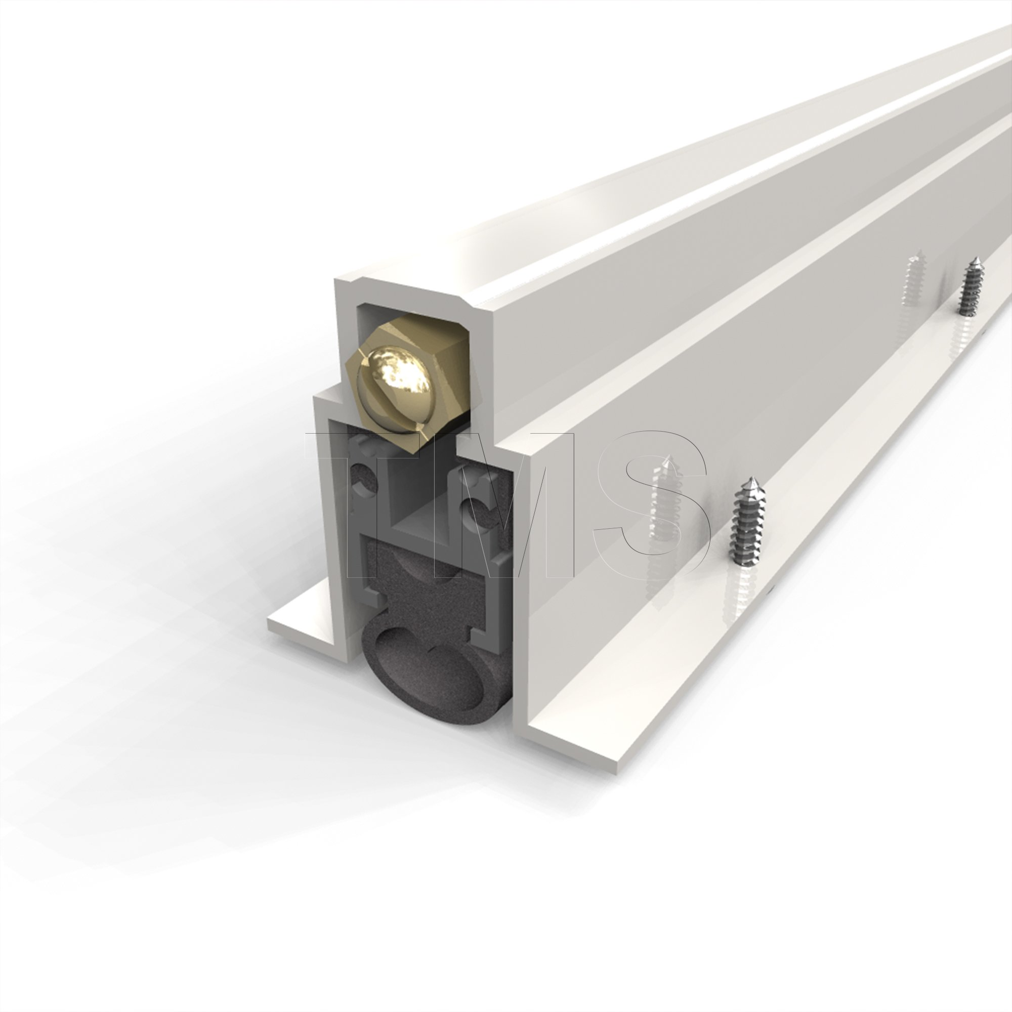 TMS Automatic Door Bottom / Fully Mortised / Heavy Duty with Neoprene Bulb Seal / 1'' Drop / 36 Inch long