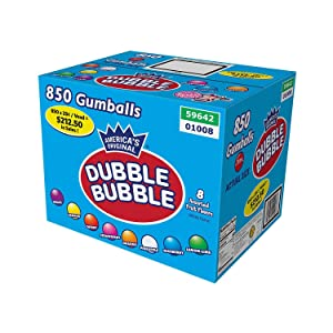 Dubble Bubble One Inch Gumballs 16 Pounds Assorted Flavors and Colors