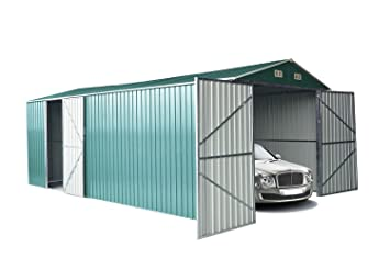 Italfrom - Caseta de jardín de chapa de zinc (500 x 300 x 232 cm): Amazon.es: Hogar