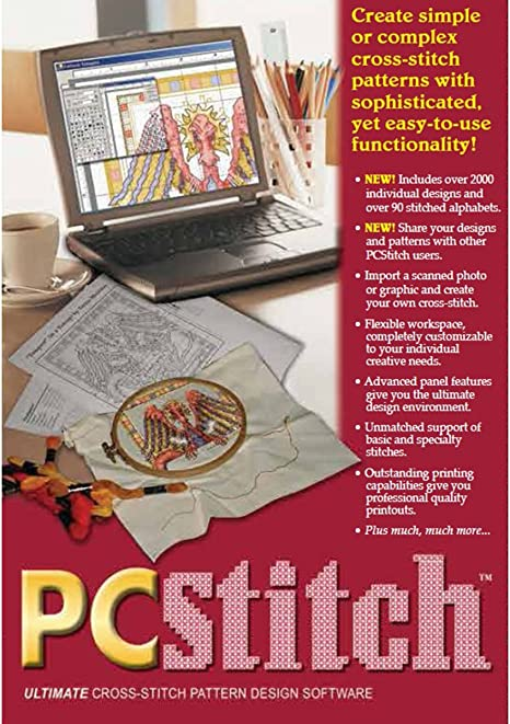 Pc Stitch Pro Cross Stitch Software Technologies Pc Stitch 10 Create Simple Or Complex Cross Stitch Patterns With Sophisticated Yet Easy To Use Functionality Use One Of The Many Included Designs Amazon Ca Home Kitchen