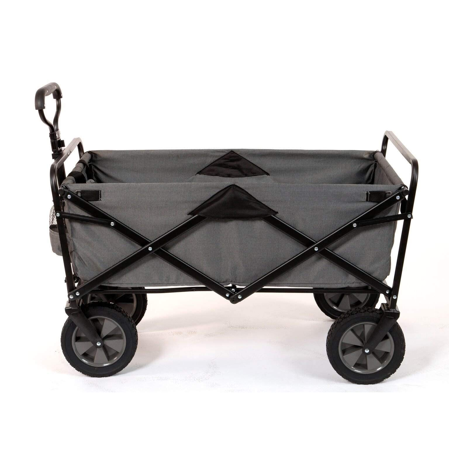 Mac Sports Collapsible Folding Steel Frame Outdoor Garden Camping Wagon, Gray by Mac Sports