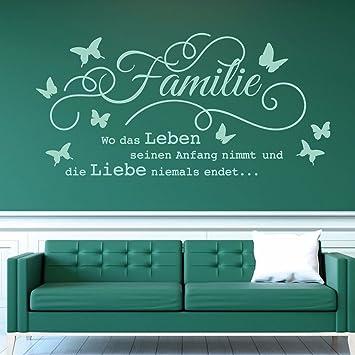 Tjapalo W Pkm176 Wandtattoo Familie Ist Wo Leben Beginnt Und Liebe