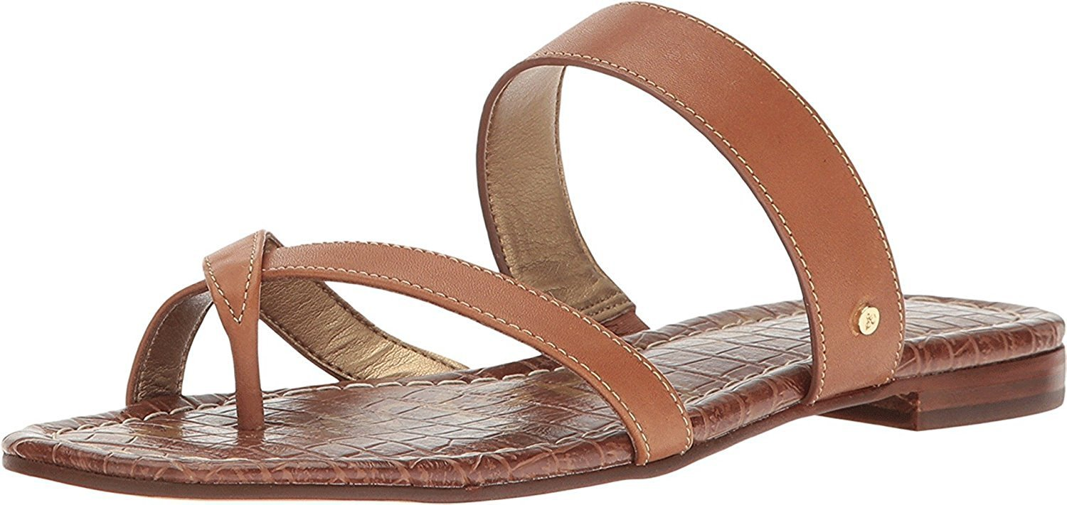 Sam Edelman Women's Bernice Slide Sandal B01M752AZL 5.5 B(M) US|Saddle Atanado Leather