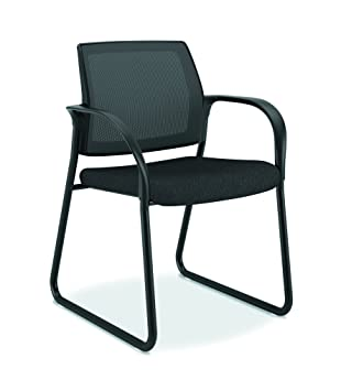 HON Ignition Guest/Multi Purpose Sled Base Chair With Mesh Back, Black