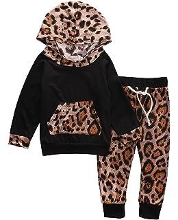 Carolilly Neonata 2 PCS Completo Coordinato Bambina Felpa Stampa Floreale Senza Cappuccio Manica Lunga+Pantaloni Sportivo Autunno Primavere Inverno /…