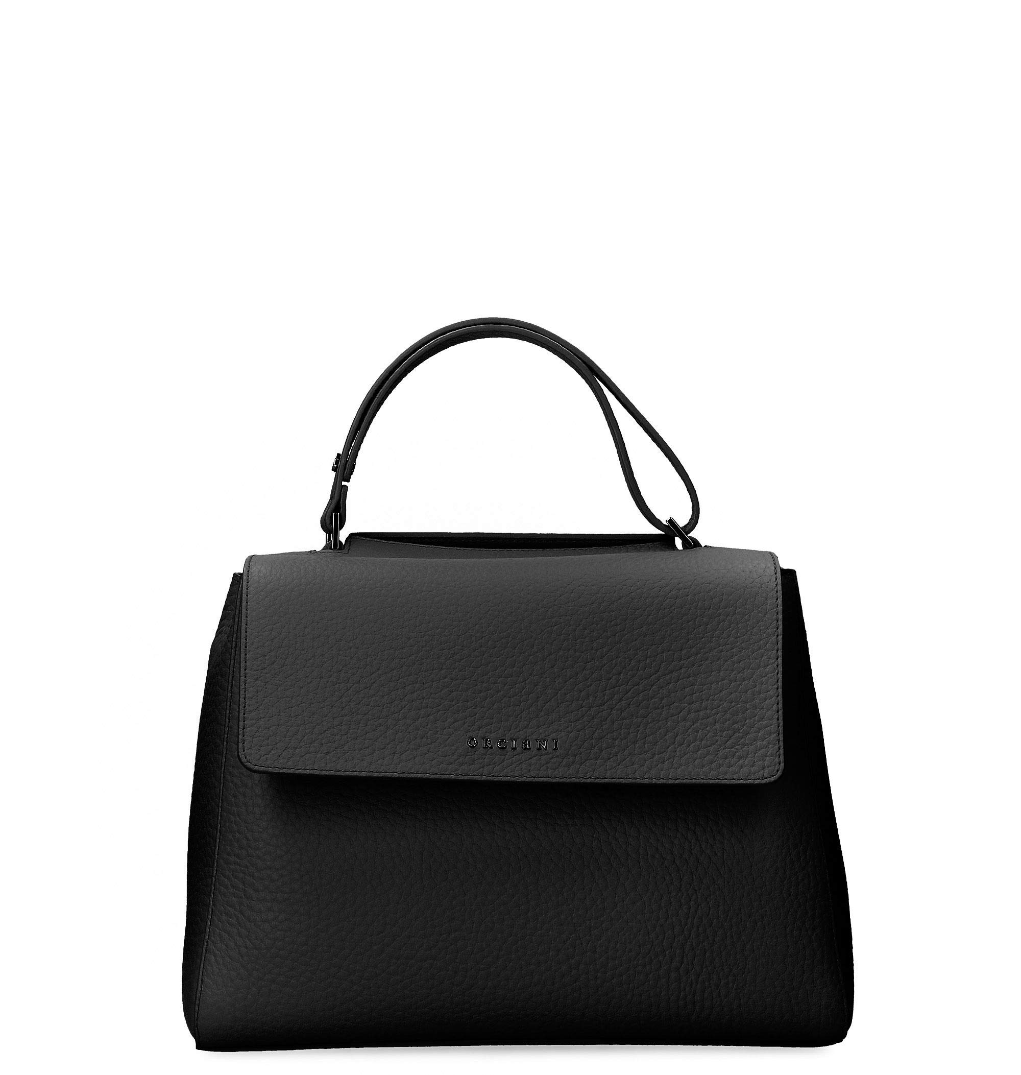Orciani Women's B02006softnero Black Leather Tote