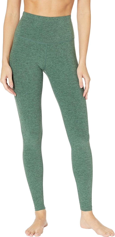 Beyond Yoga Womens High Waist Long Legging Aloha Green/Dark Tropic Large 27