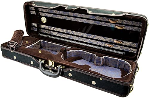 Paititi PTVNQF28 4/4 Full Size Professional Oblong Shape Lightweight Violin Hard Case