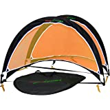 SUESPORT Pop Up Soccer Goals ( Set of 2, Two Goals & Carry Bag), Foldable Goals, Colapsible